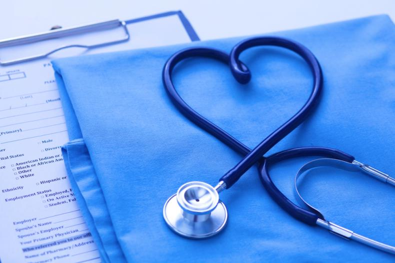stethoscope formed to heart