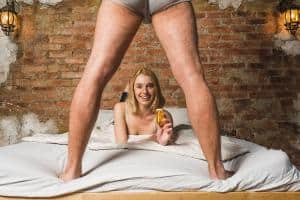 woman recommends sex enhancement pill to husband