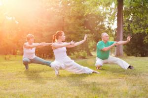 tai chi or qi gong in park
