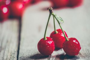 cherries on stem