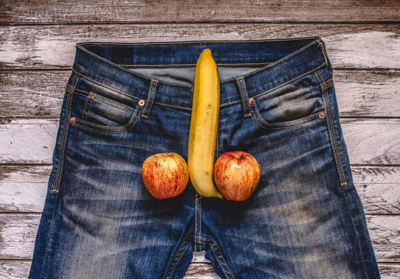 banana and apples as male genitalia