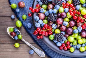 assorted berries rich in antioxidant