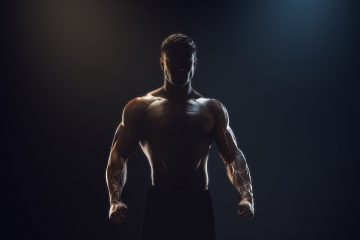 muscular guy shadow