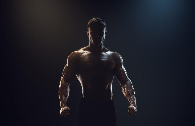 muscular guy shadow