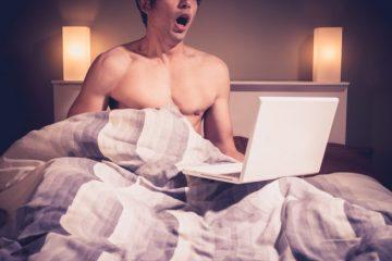 masturbating to online porn