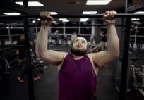 fat man at the gym